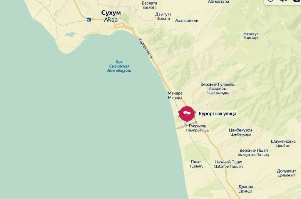 карта дома в агудзере у моря в абхазии